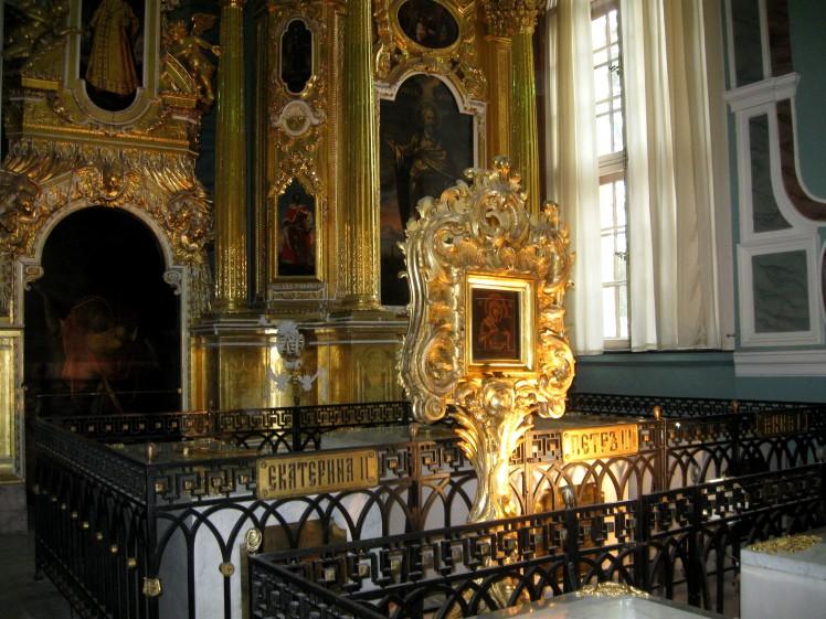 tombeau-catherine-ii-cathedrale-pierre-et-paul